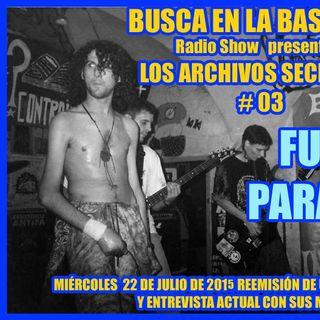 BUSCA EN LA BASURA!! Radioshow. SALUDOS # 07.- FUERZA PARA VIVIR, (20-09-2015).