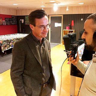 Moderatledaren Ulf Kristersson besökte Vivalla