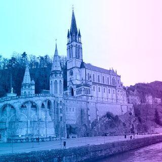 Terço pelo fim da pandemia na França, Santuário de Lourdes