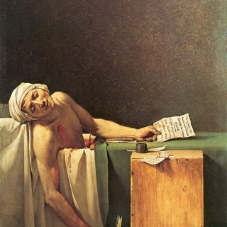 La morte di Marat  Jacques Louis David