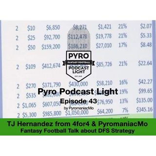 Pyro Light Fantasy Football Podcast – Episode 43 – w/ TJ Hernandez – DFS