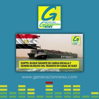 722: GIGANTESCO BUQUE BLOQUEA TRÁNSITO EN CANAL DE SUEZ