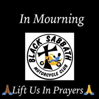 Black Sabbath MC in mourning after pack was run down, 1 killed, by a Black Sabbath Member