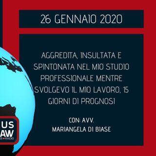 BREAKING NEWS – AGGREDITA E SPINTONATA NEL MIO STUDIO MENTRE SVOLGEVO LA MIA PROFESSIONE, 15 GIORNI DI PROGNOSI – AVV. MARIANGELA DI BIASE