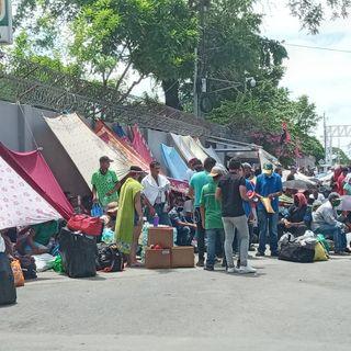 Nicaraguenses varados en Peñas Blancas llevan más de 5 días a la intemperie
