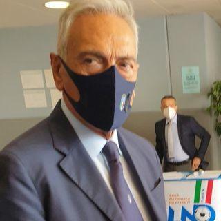 Il presidente FIGC Gravina in visita al CR Marche