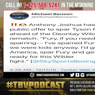 ☎️Anthony Joshua Wants to Help Fury BEAT Wilder😱FEAR or Strategy❓ I'd Go Out to America, SPAR Fury
