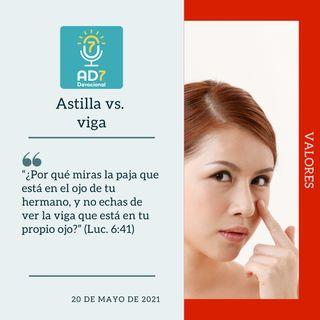 20 de mayo - Astilla vs. viga - Devocional de Jóvenes - Etiquetas Para Reflexionar