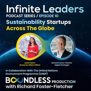 EP10 Infinite Leaders: Janet Salem, Economic Affairs Officer, Circular Economy at UN on sustainability startups across the globe