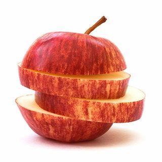 Una mela, tre fette