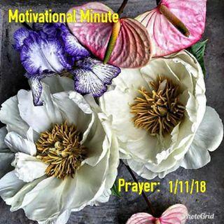 Prayer: 1/11/18