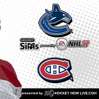 Canucks vs Canadiens (NHL 17 Hockey Sims)