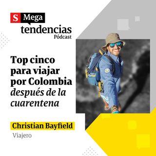 Top 5 de destinos de Colombia recomendados por Christian Byfield, influencer de viajes.