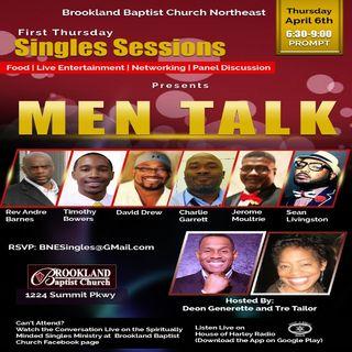 First Thursday Singles Sessions: Men Talk