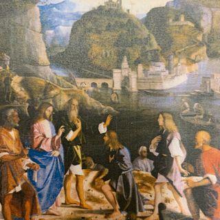 Jesus; John the Baptist; Simon Peter; Andrew; James; John;