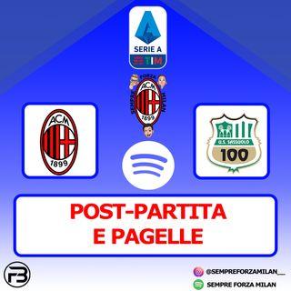 MILAN-SASSUOLO 1-2 | PAGELLE e Post Partita