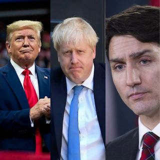 Comparación Trump, Johnson y Trudeau