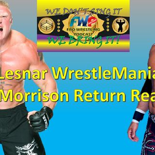 Brock Lesnar WrestleMania Plans