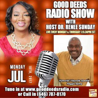 Former CNN Photojournalist Keynote Speaker Reggie Selma shares on Good Deeds