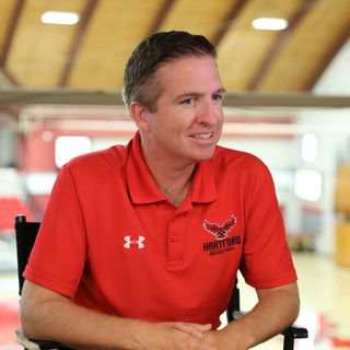 U of Hartford MBB Coach John Gallagher 10/8