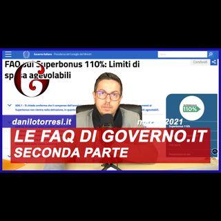 SUPERBONUS 110%: le FAQ del sito ufficiale del Governo (seconda parte)