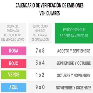 El 10 de agosto reiniciara la verificación vehicular en la CDMX