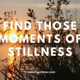 2045 Find Those Moments of Stillness