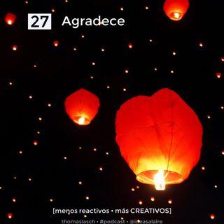 27 Agradece