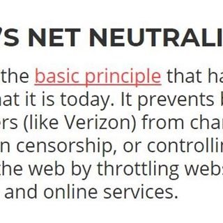 11/22/17 Net Neutrality 101: Why It's Important To You