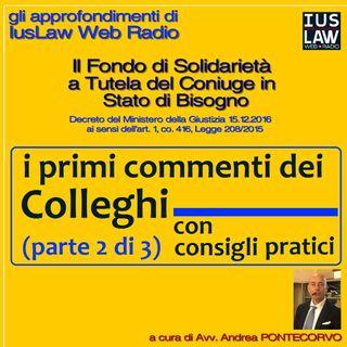 Il Fondo di Solidarietà a Tutela del Coniuge in stato di Bisogno (PARTE SECONDA: IL COMMENTO)