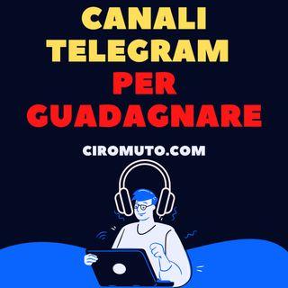 Canali telegram per guadagnare