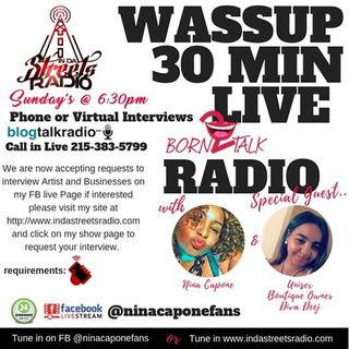 WASSUP 30 Mins Live Chat Boutique Owner Diva Deej 215-383-5799