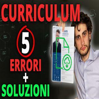 Curriculum Vitae Template | Errori, suggerimenti e consigli