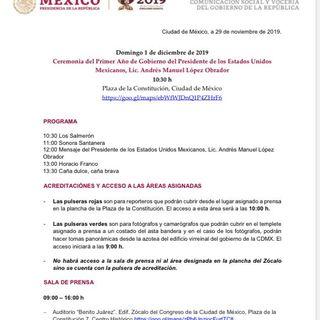 PRIMER INFORME DE GOBIERNO DEL PRESIDENTE DE LA REPÚBLICA MEXICANA