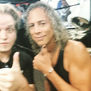 AD Talks to Kirk Hammett of Metallica backstage