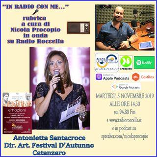Intervista ad Antonietta Santacroce per Mogol CZ - In Radio con Me 05-11-2019