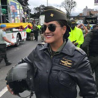 Valerie Delgado, la piloto de la policía que prefirió dejar su pasión de volar para seguir con su empresa de cosméticos