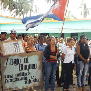 Trabajadores avileños patentizan condena al bloqueo yanqui