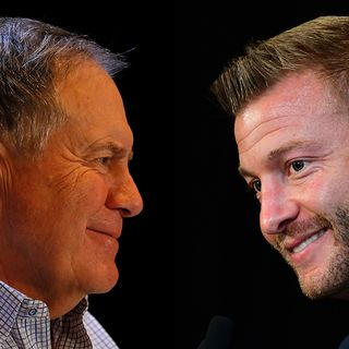 Patriots, Rams Head Coaches Bill Belichick, Sean McVay Text Frequently