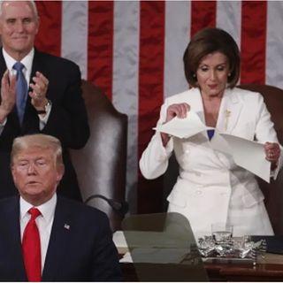 Rompe Pelosi discurso de Trump