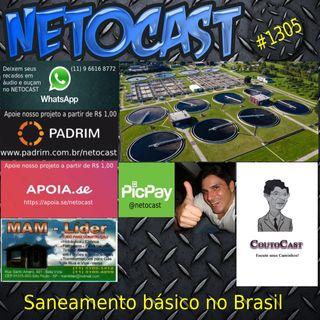 NETOCAST 1305 DE 07/06/2020 - Saneamento Básico no Brasil (Por: Eduardo Couto - Coutocast)