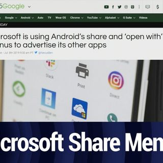 Microsoft Ads in the Share Menu | TWiT Bits