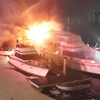 Fire Sinks Two Boats At Charlestown Marina