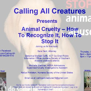 Calling All Creatures with guests Kellye Pinkleton, Michelle Kleckner, and Sara Dent