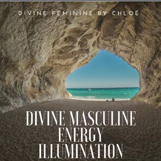 Divine masculine energy. Illumination