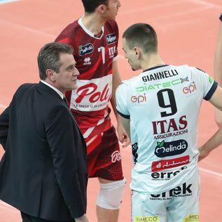 Nimir, Giannelli e Lorenzetti dopo il 3-0 in Champions su Perugia
