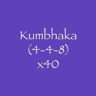 Kumbhaka (4-4-8) x40
