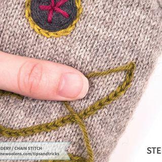 Il ricamo sulla maglia