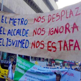 El Metro: Desalojos en el Barrio La paralela. Protesta ciudadana