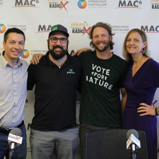 AZ GOOD BUSINESS Jeremiah Rosenthal with Green Bin Dorie Morales with Green Living Magazine and Sean Huntington with Keep Nature Wild